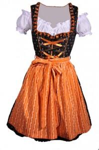 Dirndl schwarz-orange