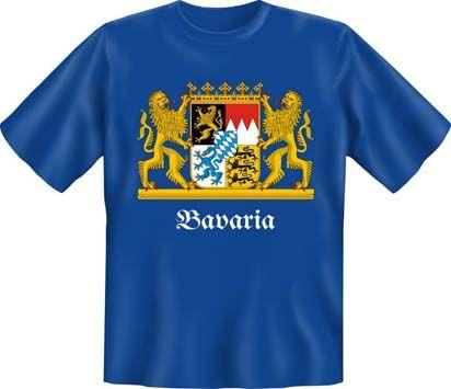 Trachtenshirt Wappen Bavaria blau T-Shirt