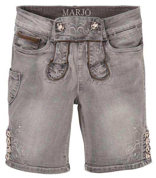 b-Ware / 2. Wahl Trachtenjeans Franziska grau Jeans- Bermuda Marjo