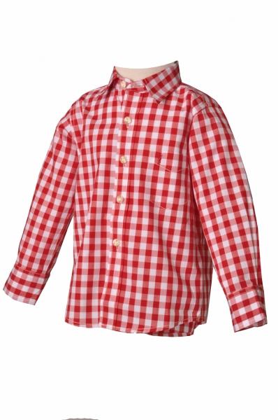 Kinder Trachtenhemd Leonhard rot Almsach