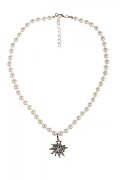 Dirndlkette Edelweiß Perlen