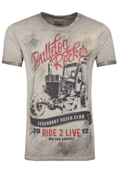 Kinder Trachten T-Shirt Lengdorf grau / mud Bulldog Rocker Hangowear