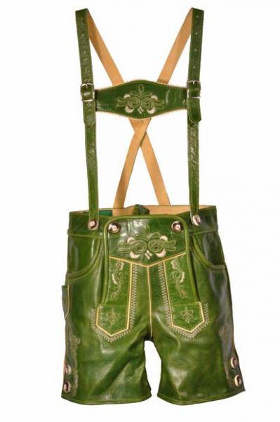 Lederhose Isabella grün Kitzo Alpen