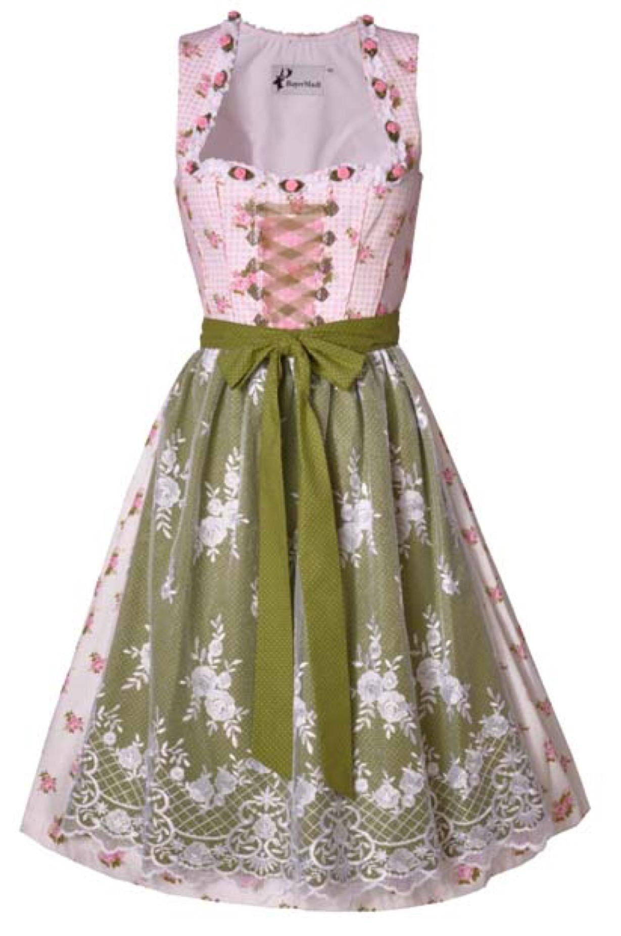61e533589b46bd Dirndl midi 65 cm Aylin rosa/grün Bayer Madl   Trachten in Übergrößen    Damen   Trachtenoutlet24