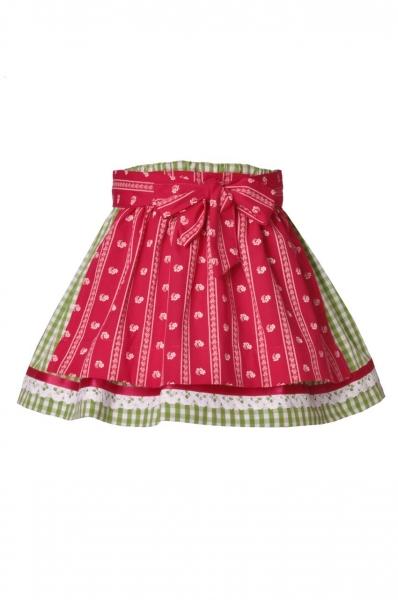 Kinder Trachtenrock Emmering grün/pink Isar Trachten