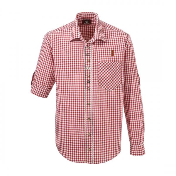 Trachtenhemd Hölzlberg rot weiß OS Trachten