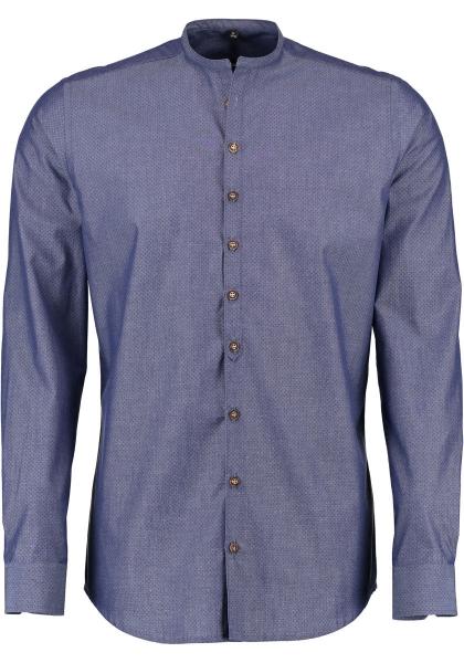 Trachtenhemd Oberottmarshausen marine blau Karo Body Fit OS Trachten