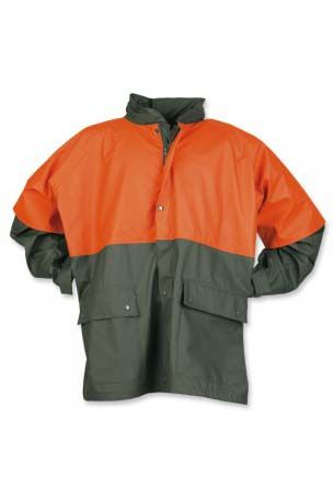 PU-Regenjacke Forst oliv/orange wasserdicht