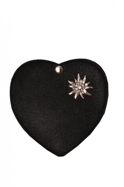 Kinder Trachtentasche Herz Perlesreut schwarz Wolkenweis