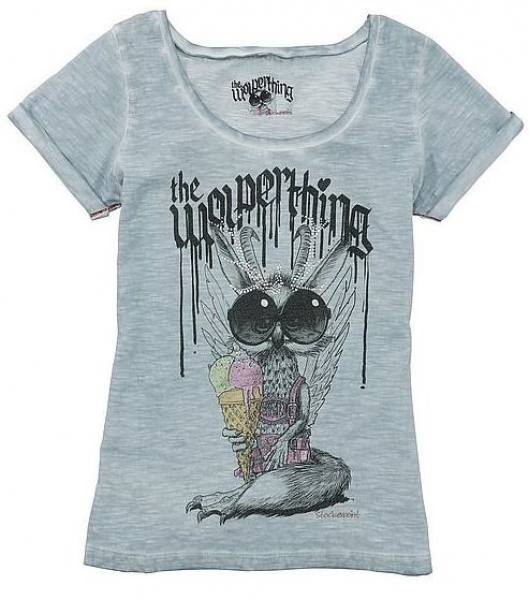Trachten-T-Shirt The Wolperthing hellblau Stockerpoint