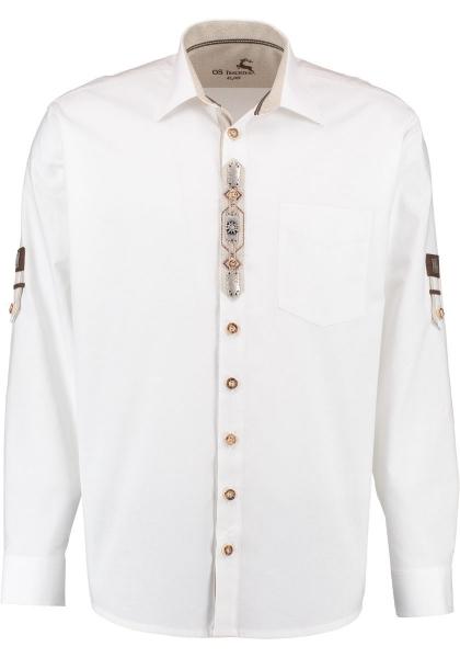 Trachtenhemd Untermeitingen weiß Krempelarm OS Trachten