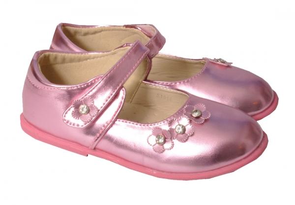 Trachtenschuhe Ballerina Lackschuh pink für Mädchen