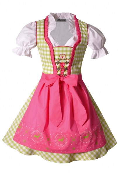 Kinderdirndl Josy grün/pink Set 3-tlg. Bayer Madl