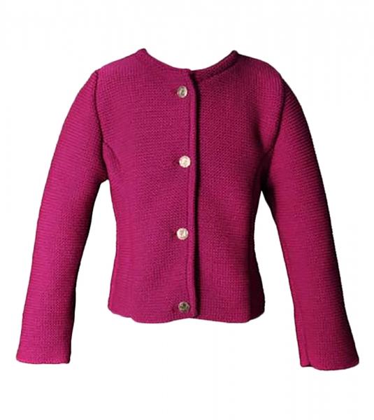 Kinder Trachten Strickjacke Lea pink Isar Trachten