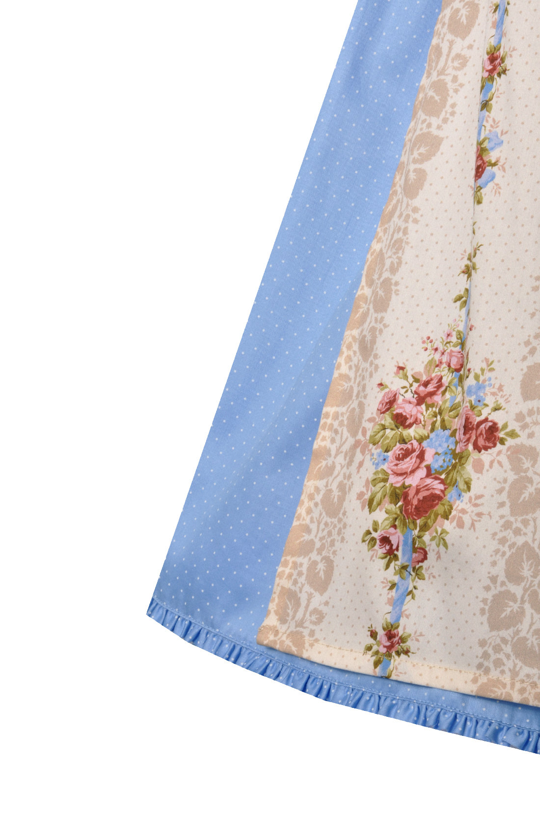 Du midi 60 cm Frasdorf bleu bleu clair avec des fleurs tablier alpenfee