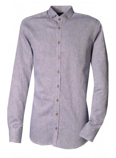 Trachtenhemd Abensbach blau jeansblau Slim Fit Langarm OS Trachten