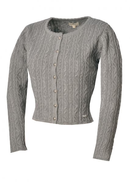Trachten Strickjacke Liz3 grau Stockerpoint