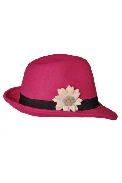 Trachtenhut Flora pink