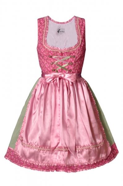 Dirndl mini 55 cm Yvonne pink Bayer Madl
