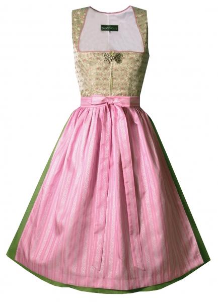 Dirndl midi 70 cm Wendeldorf grün lindgrün rosa Berwin & Wolff