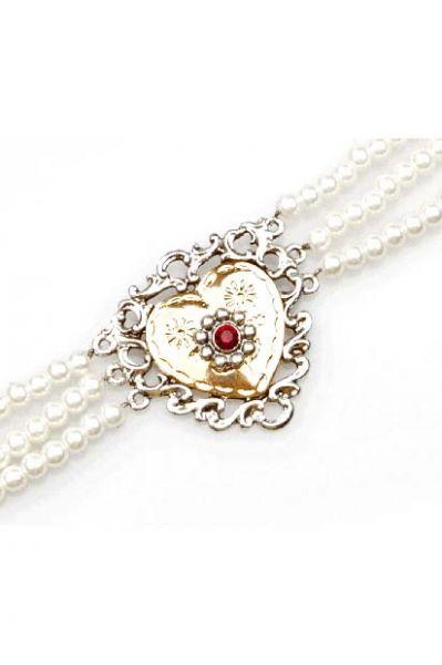 Kropfkette Herz Perlen