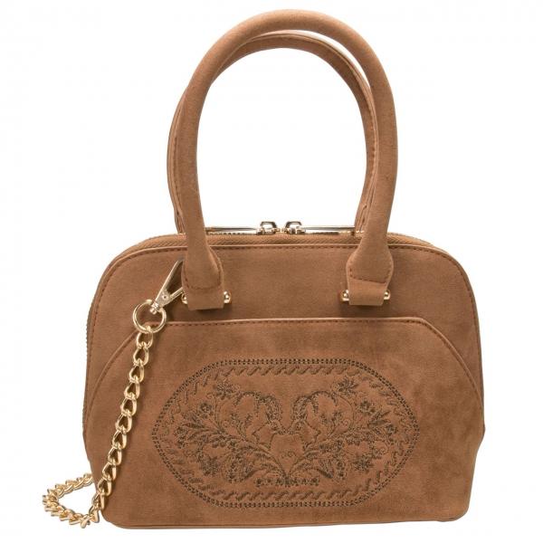Trachten Handtasche Trachtentasche Steinbock braun