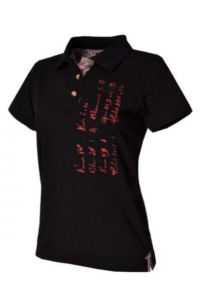 Poloshirt Benita schwarz OS Trachten