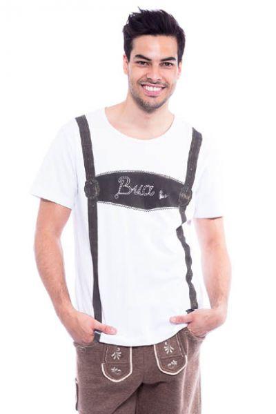 Trachten T-Shirt Bua weiss Krüger
