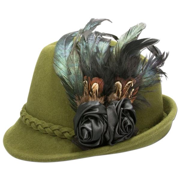 Trachtenhut Hut Trachten Runding grün