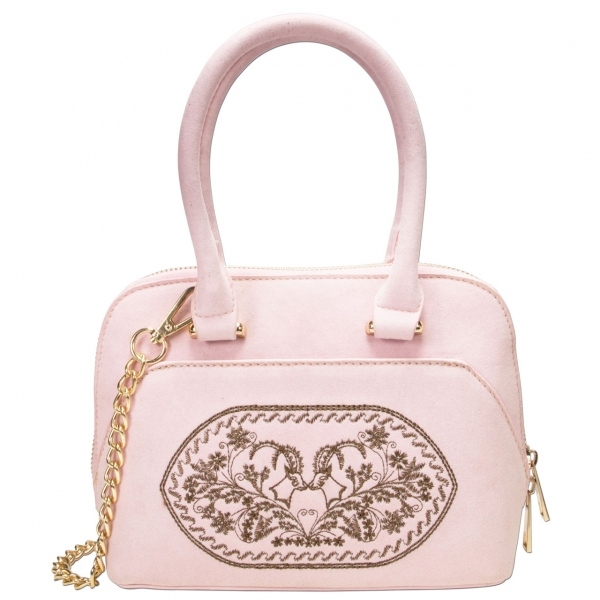 Trachten Handtasche Trachtentasche Steinbock rose
