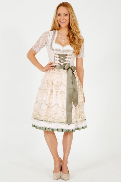 Dirndl midi 60 cm Bella rose Krüger Feelings