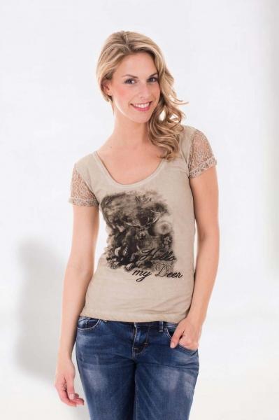 Trachten T-Shirt Becco beige Krüger