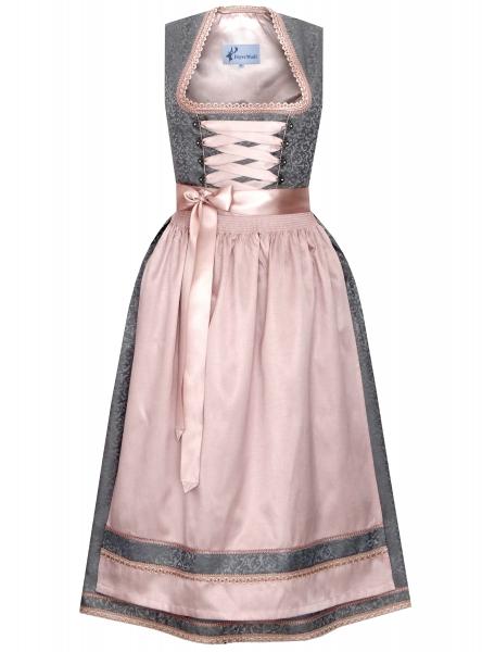 Dirndl lang 85 cm Donnersdorf silber grau rosa Bayer Madl