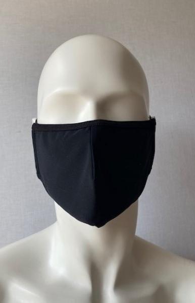 Stoffmaske Mund- und Nasenbehelfsmaske schwarz