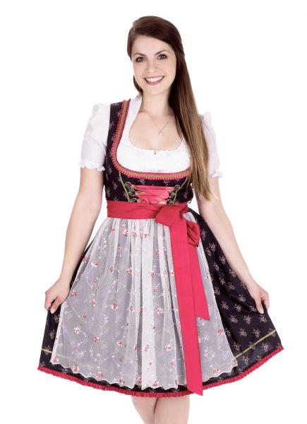 Dirndl mini 55 cm Niedermurach Nikki schwarz creme Bayer Madl