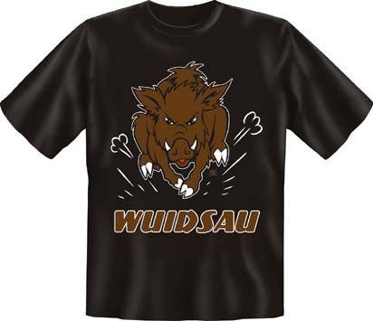 Trachtenshirt Wuidsau schwarz T-Shirt