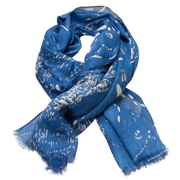 Trachtenschal blau Spurensuche Hirsch