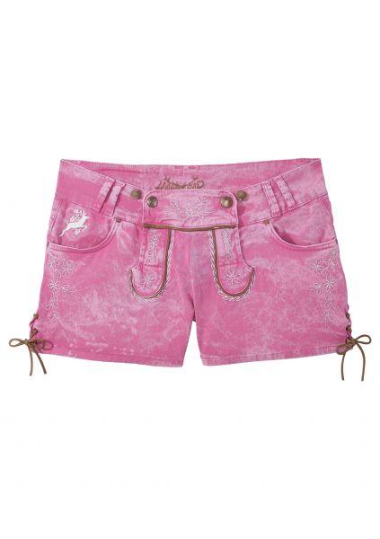 B-Ware / 2. Wahl - Trachtenjeans Color Jeans Short pink Hangowear