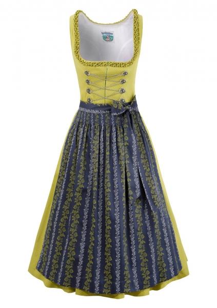 Dirndl midi 65 cm Rosamunda grün blau Turi Landhaus