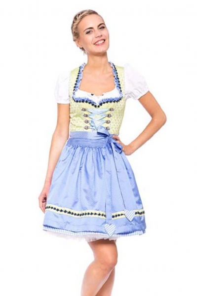 Dirndl mini 50 cm Fresh Breeze blau Krüger