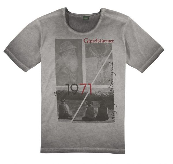 B-Ware / 2. Wahl - Trachtenshirt Unterschneitbach grau OS-Trachten