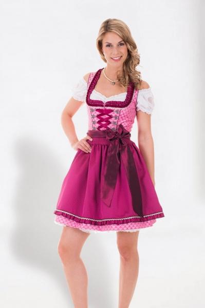 Dirndl mini 50 cm Liebeszauber pink Krüger