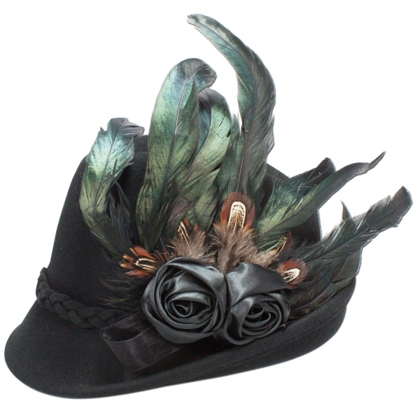 Trachtenhut Trachten Hut Runding schwarz