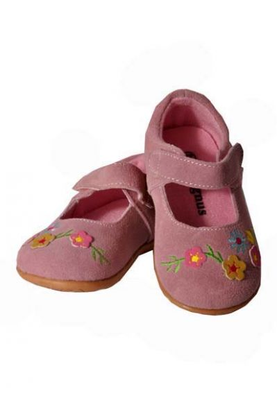 Kinder Ballerina Abensberg pink Klettverschluss
