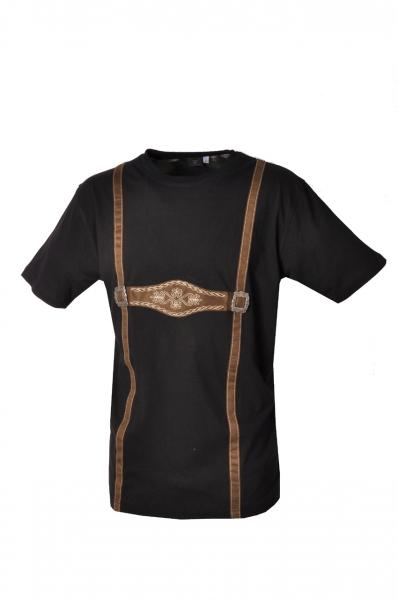 Trachten T-Shirt Neuburg Hosenträger schwarz OS-Trachten