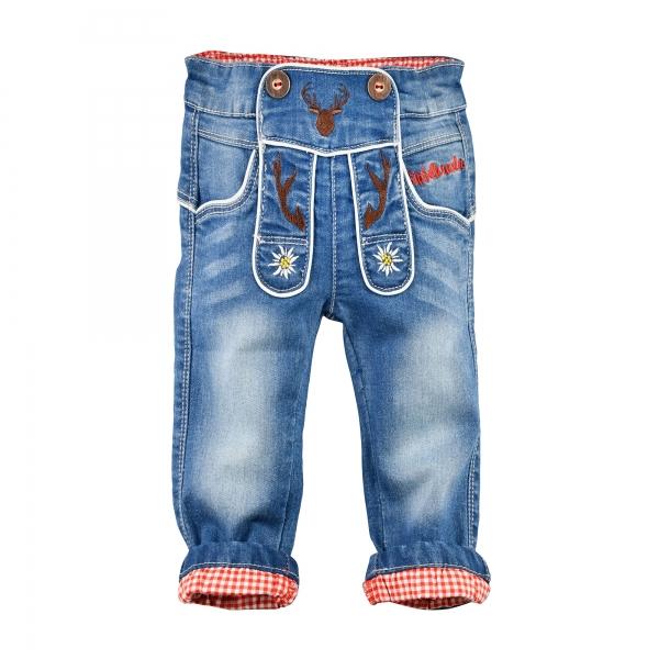 Kinder Trachten Jeans Gipfelkraxler blau jeans denim Bondi