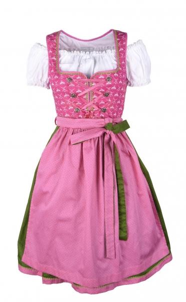 Dirndl midi 60 cm Pretzfeld pink Trachtenset 3-tlg.