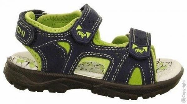 Sandale Sandalette mit Klett blau navy grün Lurchi