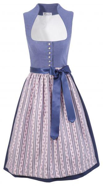 Dirndl Desingerdirndl midi 65 cm Unterhilgen blau rosa Hannah Collection