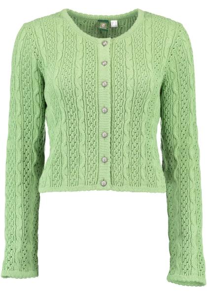 Trachten Strickjacke Trachtenjacke Syrgenstein khaki grün schlamm OS Trachten